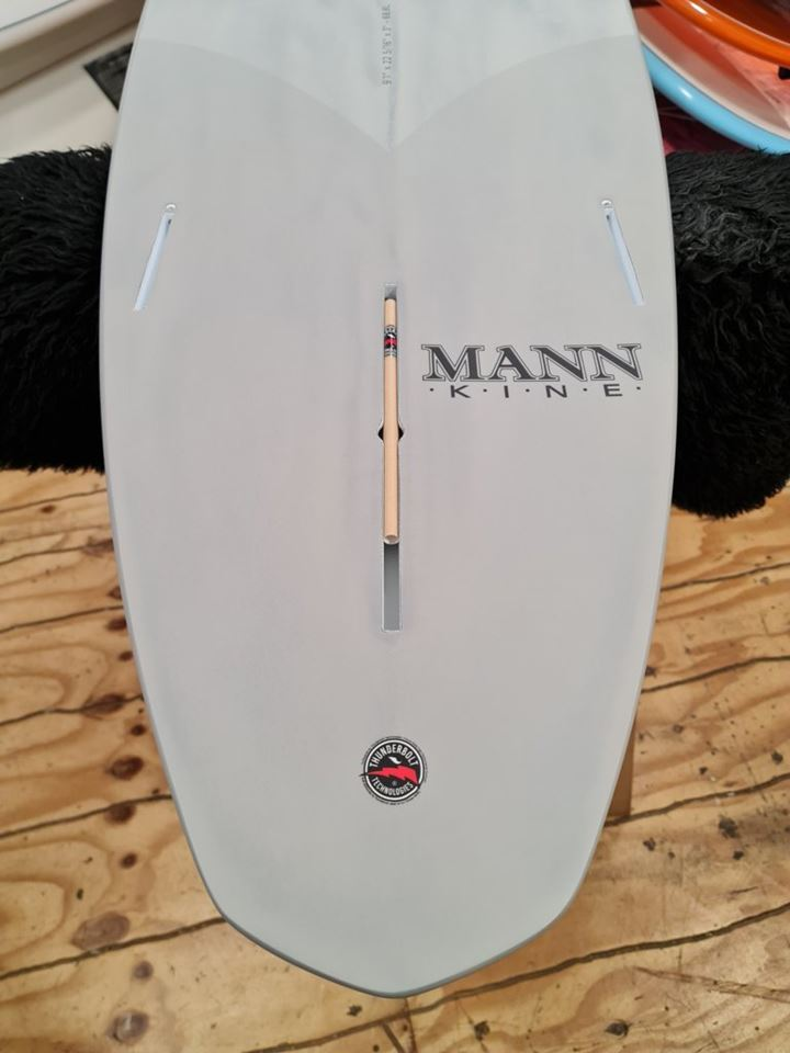 Firewire Surfboards Gem 9'1 Grey Thunderbolt Xeon Red Tech
